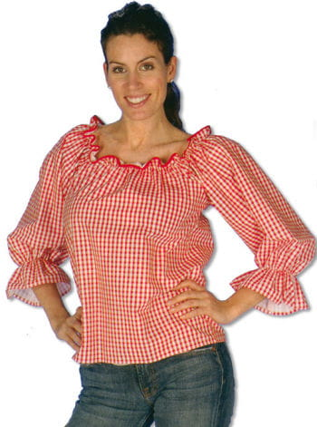 Checked Blouse Red/White