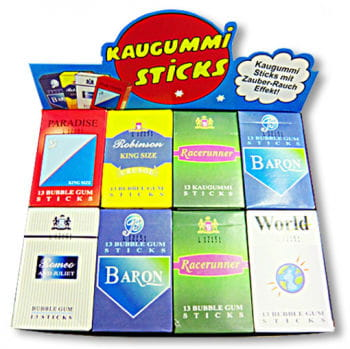 Bubble Gum Cigarettes With Smoke Effect