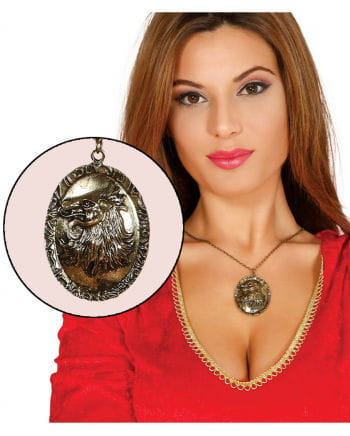 Necklace with Wolf Amulet gold