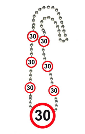 Chain Traffic Sign 30