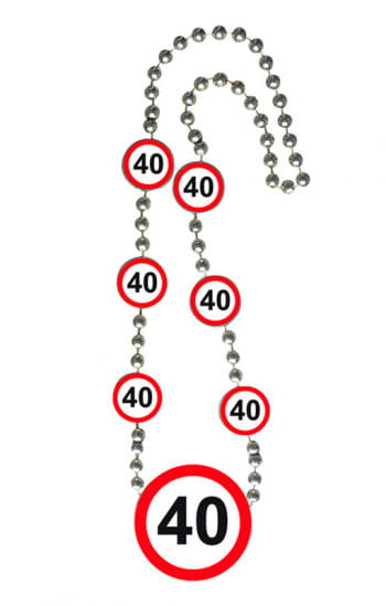 Chain traffic sign 40