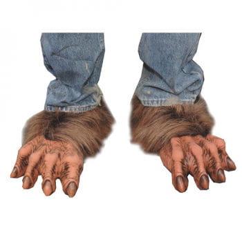Braune Werwolf Füße mit Kunstfell