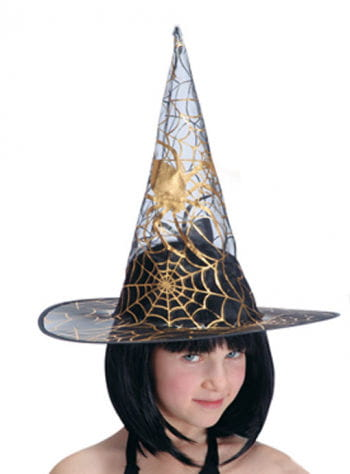 Child Witch Hat with Spider Detail