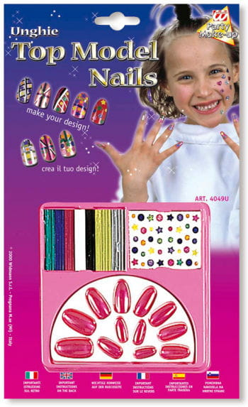 Child Nails Design Kit Purple