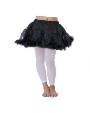 Schwarzer Kinder Petticoat