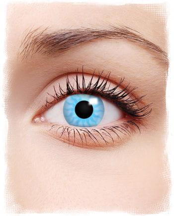 Motiv-Kontaktlinsen Solar Blue