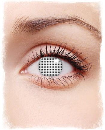 Weiße Netz Kontaktlinsen