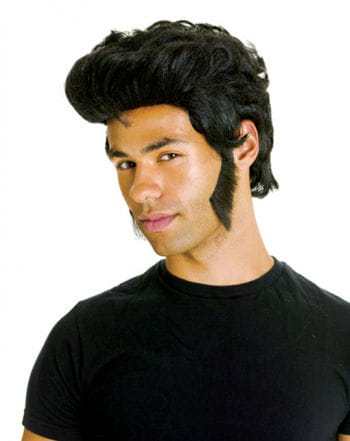 Sideburns Black with Adhesive Pads