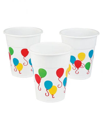 25 Plastic cup with balloon motif