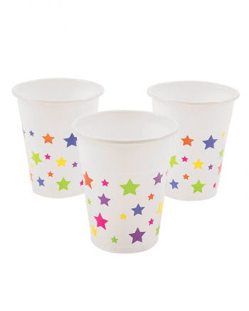 25 Plastic cup with stars motif