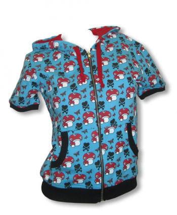 Short sleeve hoodie blue L / 40