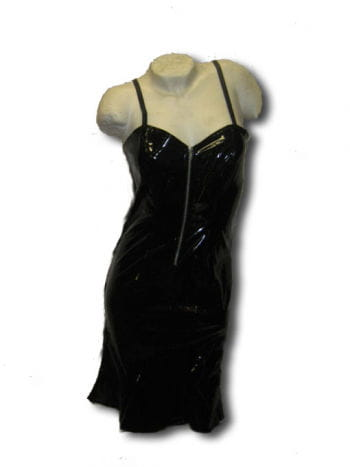 Gothic Lack Kleid schwarz Gr medium