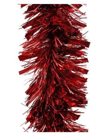 Girlande matt/glanz - Weihnachtsrot  2,7m