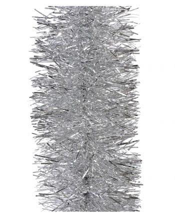 Lametta-Girlande in Silber 2,7m