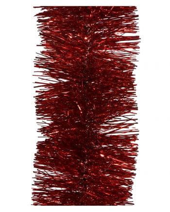 Tinsel garland - Christmas red 2,7m