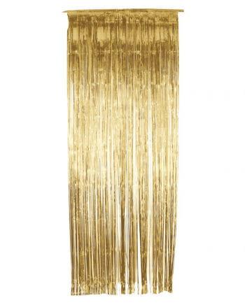 Goldener Lametta Vorhang