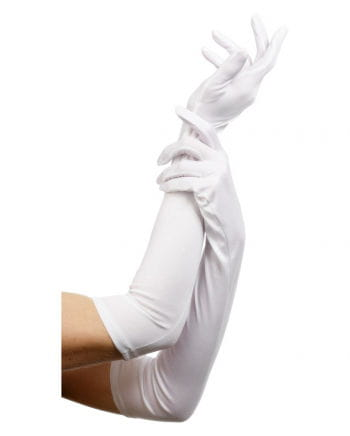 Long gloves white