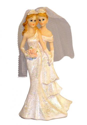 Lesbisches Hochzeitspaar als Torten-Dekoration 16,5 cm
