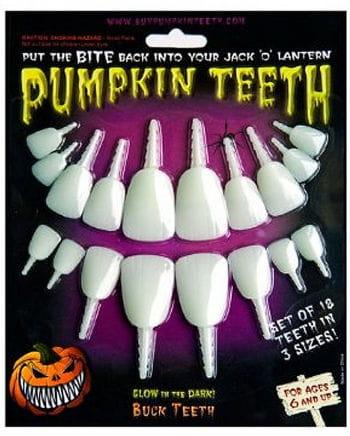 Kürbis Zähne Leuchtend