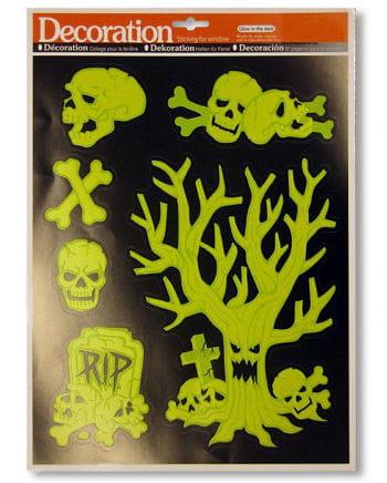 Leuchtende Totenschädel Sticker
