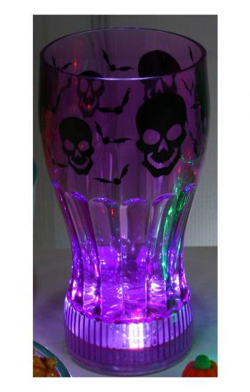 Leuchtender Halloween Trinkbecher Schädel