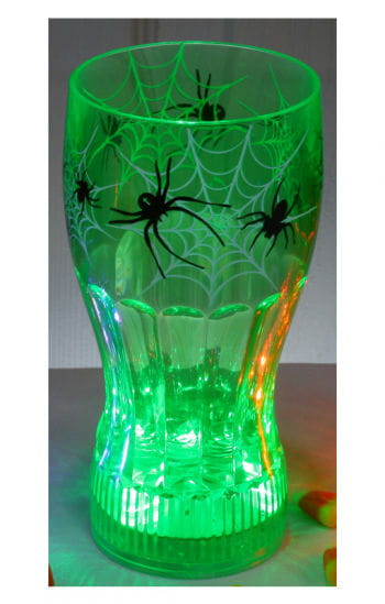 Leuchtender Halloween Becher Spinne