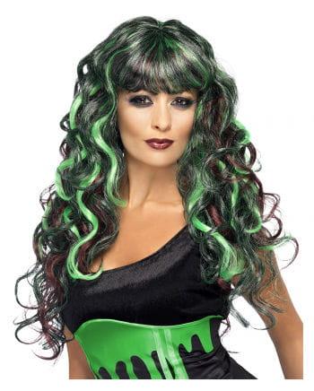 Curly Wig Siren Green Purple