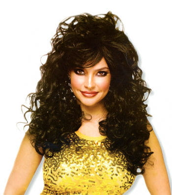 Curly Long Hair Wig Black
