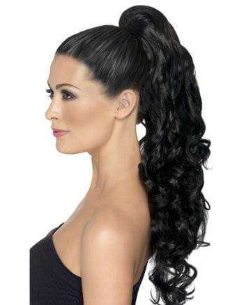 Lockige Haarverlängerung Schwarz