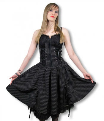 Gothic Pinstripe Dress Medium