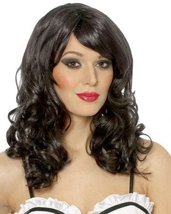 Glamour Damenperücke Schwarz
