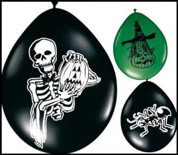 Halloween Luftballons 8Stück