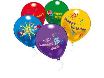Happy Birthday Balloons 10 St.