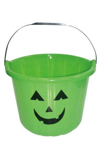 Grinsender Halloween Eimer grün