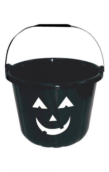 Funny Halloween Bucket Black