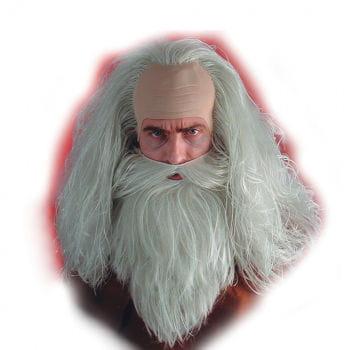 Magier Bart und Perücken Set