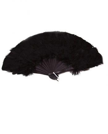 Marabou feather fan black