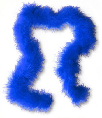 Marabou trim blue