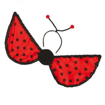 Marienkäfer Flügel mit Haarreif mit Fühler
