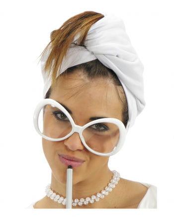 Mega Star Glasses White