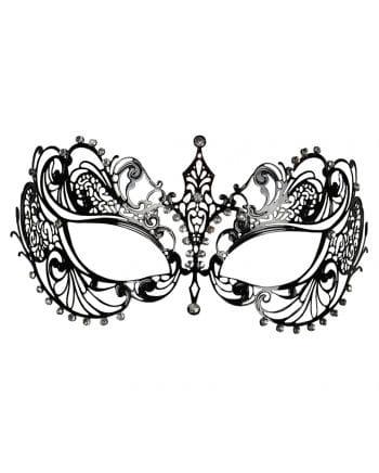 Metall-Augenmaske mit Strass schwarz