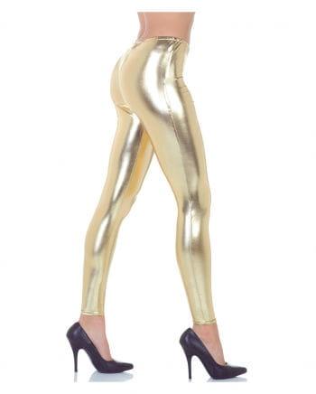 Kostümleggings metallic gold