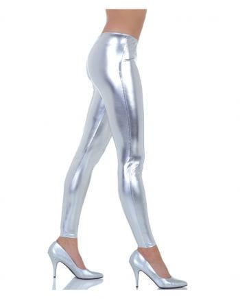 Kostümleggings metallic silber