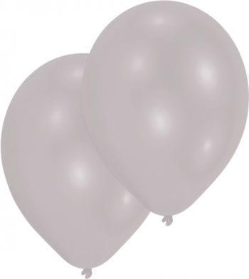 Premium Luftballons metallic silber