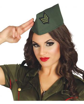 Officer cap green
