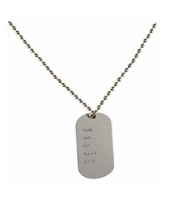 Military identification tag
