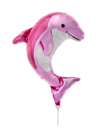 Mini foil balloon pink dolphin