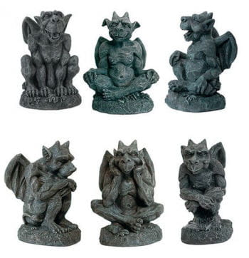 Mini Gargoyle 6 PCS Set