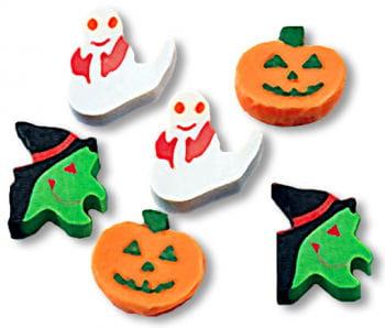 Mini Radierer als Halloweendeko klein