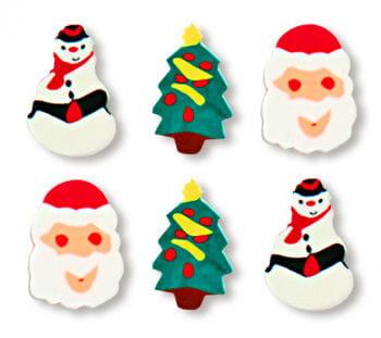 Weihnachts Radiergummi Set 12 St.